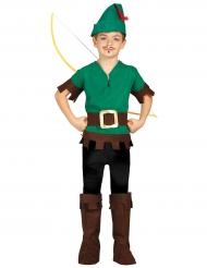Bogenschütze-Mittelalter Kinderkostüm grün-braun