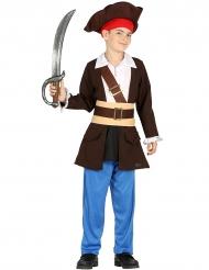 Piraten-Kostüm für Jungen braun blau
