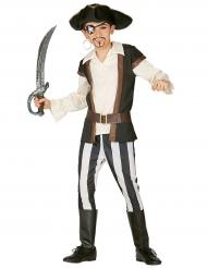 Piratenkostüm für wilde Jungs Kinderkostüm braun-schwarz-weiss