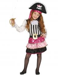 Bezauberndes Piraten-Mädchenkostüm pink-schwarz-weiss