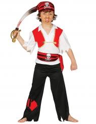 Piraten-Kostüm für Kinder Seeräuber schwarz-rot-weiss