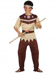 Indianer-Kostüm für Jungen Western braun-beige