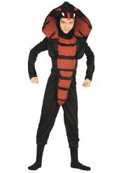 Wilde Kobra-Kinderkostüm für Jungen schwarz-rot