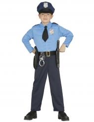Polizist-Kostüm für Jungen Uniform blau-schwarz