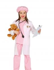 Tierarzt-Kostüm für Mädchen rosa-weiss