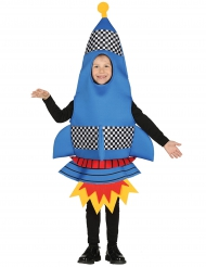 Humorvolles Raketen-Kinderkostüm blau-rot
