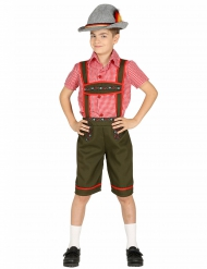 Tiroler-Kinderkostüm Tracht für Jungen weiss-rot-grün