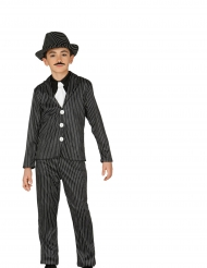Gangster Kostüm gestreift für Jungen