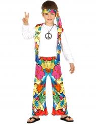 Hippie-Kostüm mit großen Blumen für Kinder