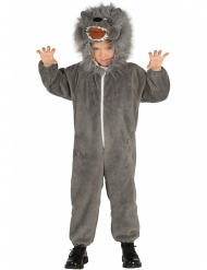 Wolf-Kostüm für Kinder Tierkostüm grau