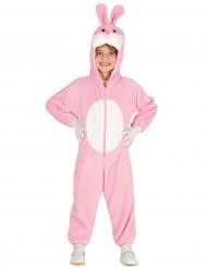 Hasenkostüm für Kinder pink-weiss