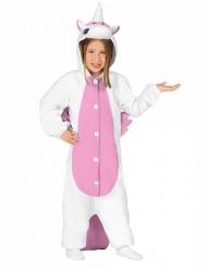 Einhorn Anzug weiß rosa für Kinder