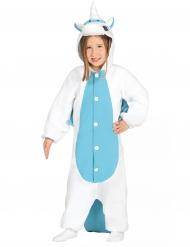 Einhor - Kostüm weiß-blau für Kinder