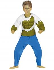 Superheld-Monster muskulöses Kostüm für Kinder grün