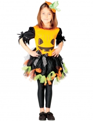Lustiges Kürbiskostüm für Kinder Halloween schwarz-orange-grün