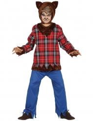 Gefährlicher-Werwolf Kinderkostüm Halloween braun-rot