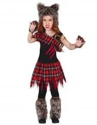 Furchtlose Wölfin Halloween-Verkleidung für Kinder bunt