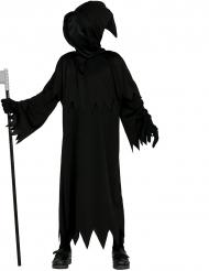 Unheimliches Sensenmann-Kinderkostüm Halloween schwarz