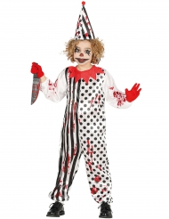 Mörderischer Clown Halloween Kinderkostüm bunt