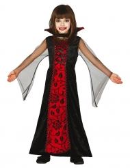Gräfin-Vampirkostüm für Kinder Halloween schwarz-rot