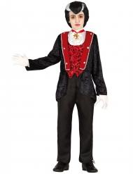 Prachtvolles Vampirkostüm für Kinder schwarz-rot
