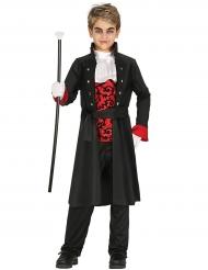 Edles Vampir-Kinderkostüm düstere Halloween-Verkleidung schwarz-rot