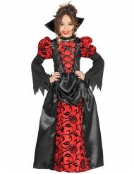 Edle Vampirgräfin Kinderkostüm schwarz-rot