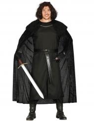 Dunkler Ritter Kostüm für Herren