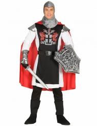 Prachtvolles Ritterkostüm für Herren Mittelalter schwarz-rot-weiss