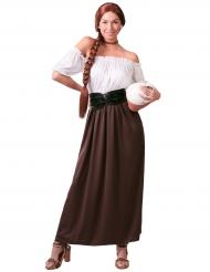 Mittelalterliches Wirtinnen Kostüm für Damen