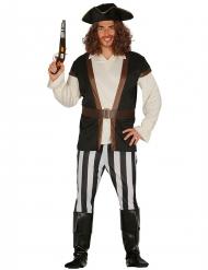 Gestreiftes Piraten-Kostüm für Herren