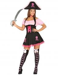 Kostüm rosa und schwarz für Damen