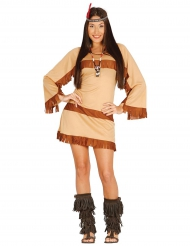 Indianerinnen-Kostüm mit Stirnband bunt