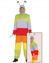 Buntes Raupen-Kostüm für Erwachsene