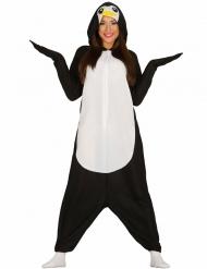 Erwachsenen-Pinguin Kostüm schwarz-weiss-gelb