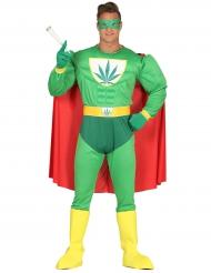 Grüner Superheldenanzug Cannabis