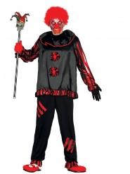 Horrorclown Kostüm für Erwachsene schwarz-rot