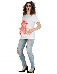 Blutiges Halloween T-Shirt schwangere Frau für Damen
