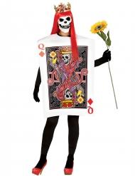 Kostüm Karte Königin Skelett für Halloween