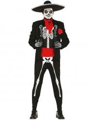 Dia de los Muertos Herrenkostüm Skelett schwarz-weiss