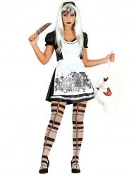 Kostüm Wunderland Prinzessin gothic für Damen