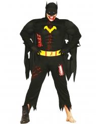 Zombie-Superheld Halloween Verkleidung für Herren schwarz-gelb