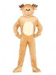 Rentier Kostüm für Erwachsene Maskottchen Weihnachten