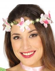 Hippie-Blumenband mit LED für Erwachsene bunt