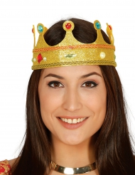 Königin Krone mit künstlichen Edelsteinen