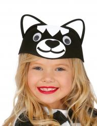 Witziger Katzen Hut für Kinder schwarz