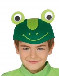 Lustiger Frosch-Hut für Kinder Karnevals-Zubehör grün