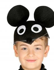Niedlicher Maus Hut für Kinder schwarz