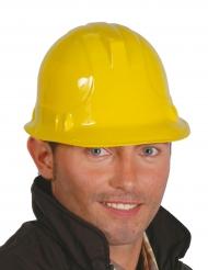 Bauarbeiter-Helm für Erwachsene gelb