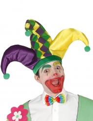 Dreifarbiger Harlekin-Hut für Erwachsene